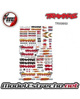 OFFICIAL TEAM TRAXXAS RACING DECAL SET - PEGATINAS TRAXXAS