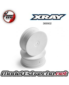 XRAY LLANTAS 4WD DELANTERA 1/10 12mm BLANCAS (2u.)