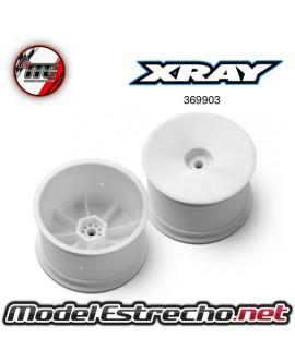 XRAY LLANTAS 4WD TRASERA 1/10 12mm BLANCAS (2u.)