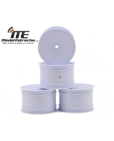 JCONCEPTS LLANTA 1/10 TRASERA BLANCA HEX. 12 mm (4Pzs)